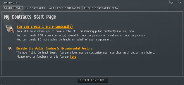 Contracts Improvements EVE Online - Create contract online
