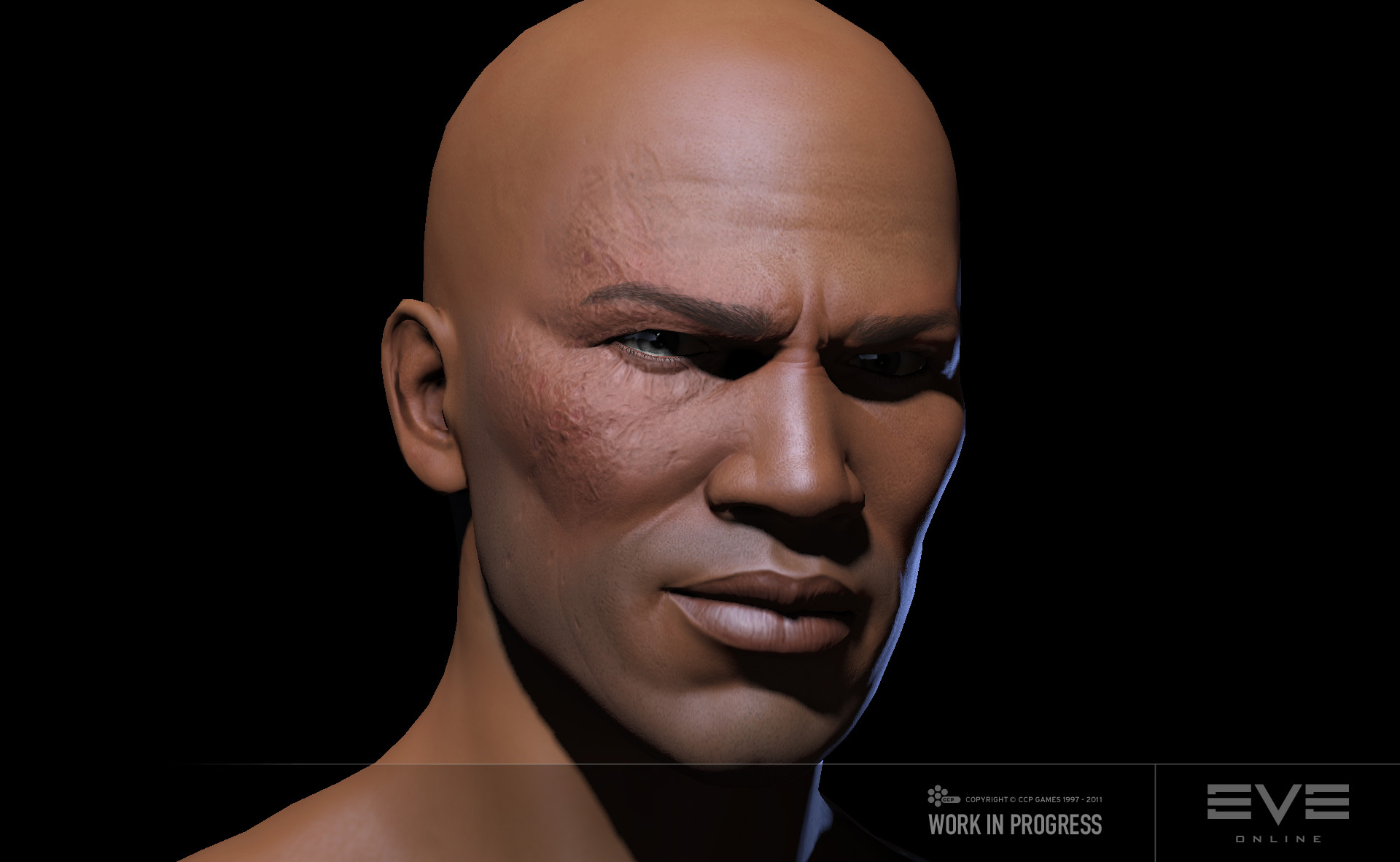Badass face scar
